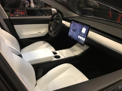 Inside Silver Tesla Model 3
