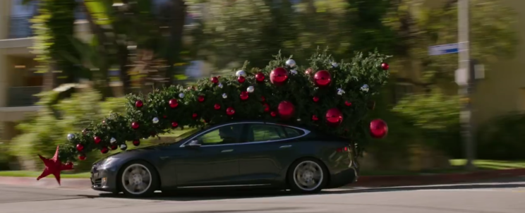"Model S at ""Why him?"" (2016)"